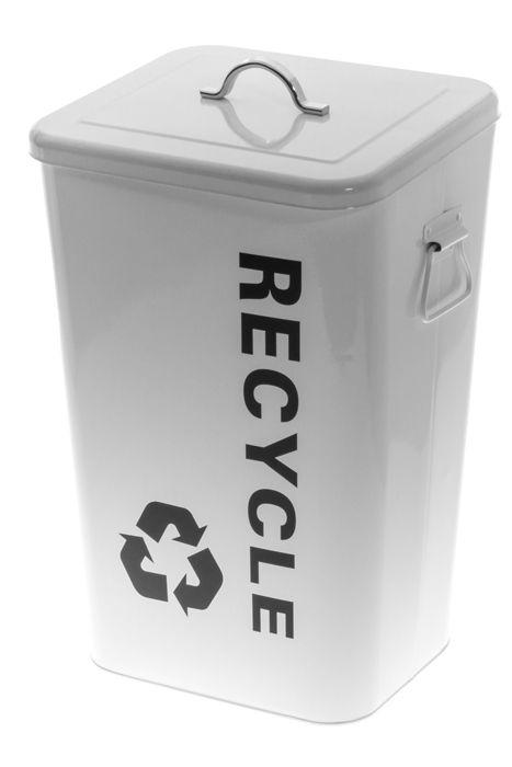 Kierrätysastia Recycle valkoinen