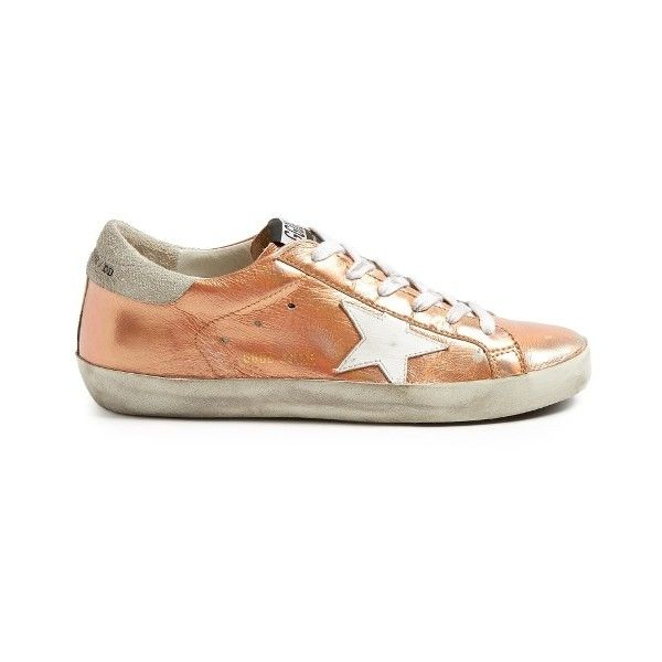 Rose gold sneakers, Leather trainers