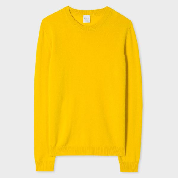 Women's Yellow Cashmere Sweater | Cashmere sweaters, Cashmere and ...