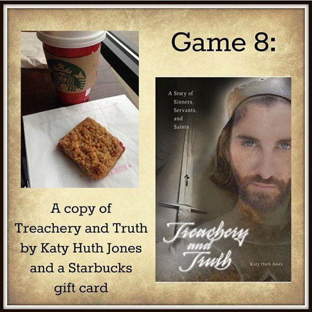 Win a copy of the historical novel Treachery & Truth by @katyhuthjones and a Starbucks gift card. Don't miss the party on Facebook on August 31. See link in bio.