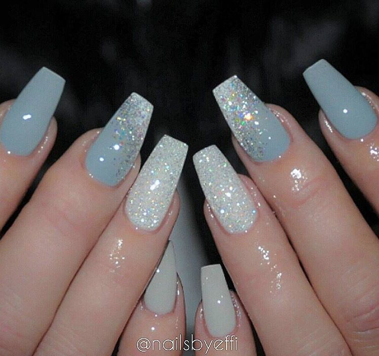 Baby blue - Baby Blue Nails In 2019 Pinterest Nails, Acrylic Nails And