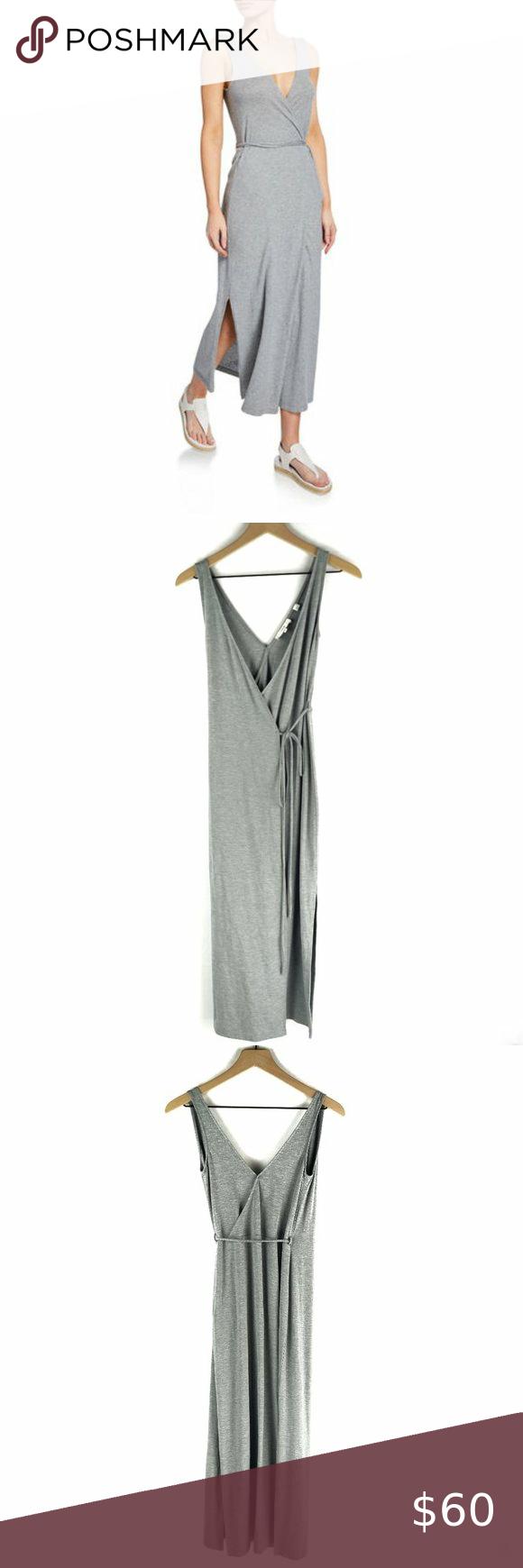 Vince Grey Sleeveless Midi Wrap Dress Size Xxs Midi Wrap Dress Wrap Dress Sleeveless [ 1740 x 580 Pixel ]