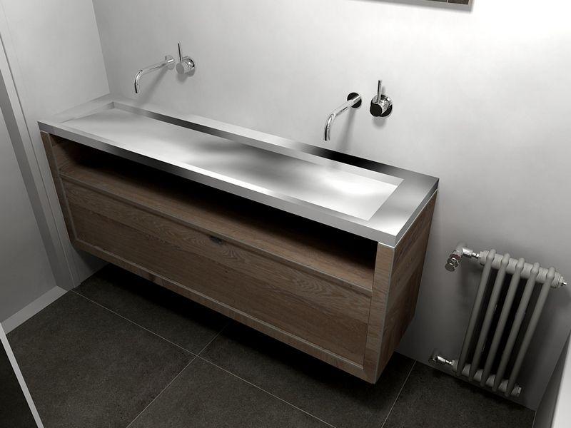 ideeën badkamer rvs wastafel - badkamer | pinterest, Badkamer