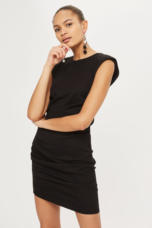 Shoulder Pad Mini Bodycon Dress Top Shop Dress Bodycon Mini Dress Short Dresses Casual [ 1530 x 1020 Pixel ]