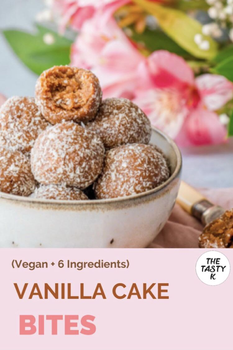 Vanilla Cake Bites The Tasty K Recipe In 2020 Cake Bites Vegan Snack Recipes Tasty