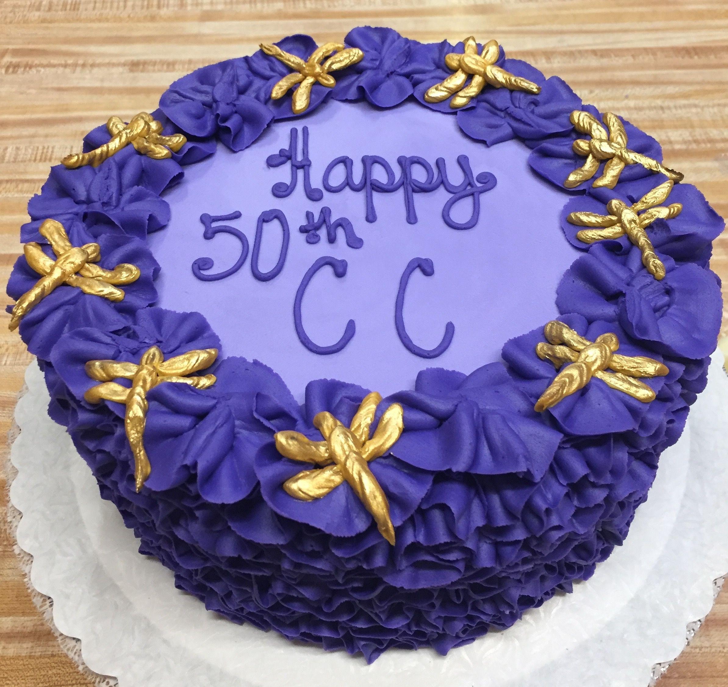 Incredible Purple Birthday Cake Westhampton Pastry Shop Richmond Va Pastry Personalised Birthday Cards Beptaeletsinfo