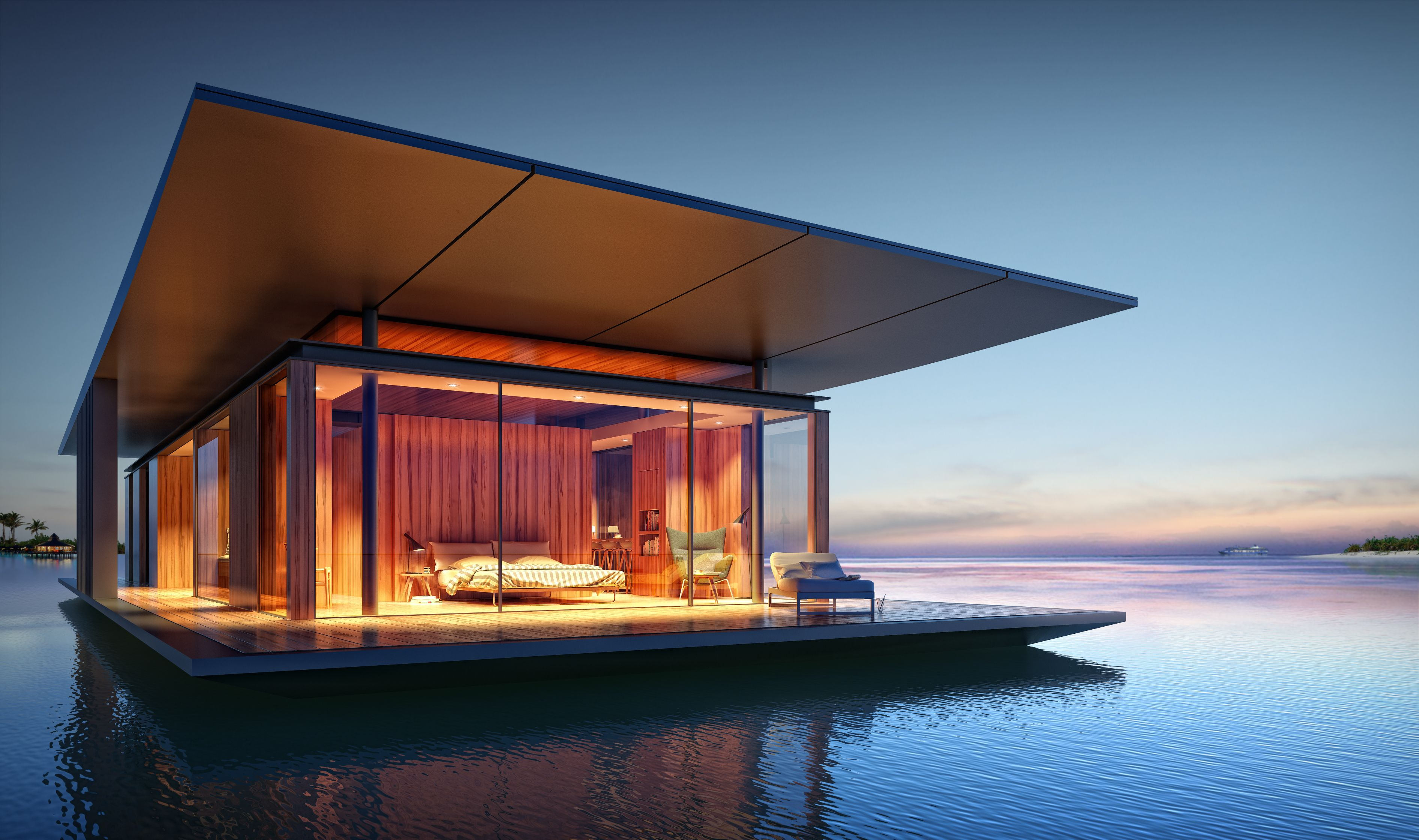 In Indonesia A Modern Floating House Unique Houses Floating