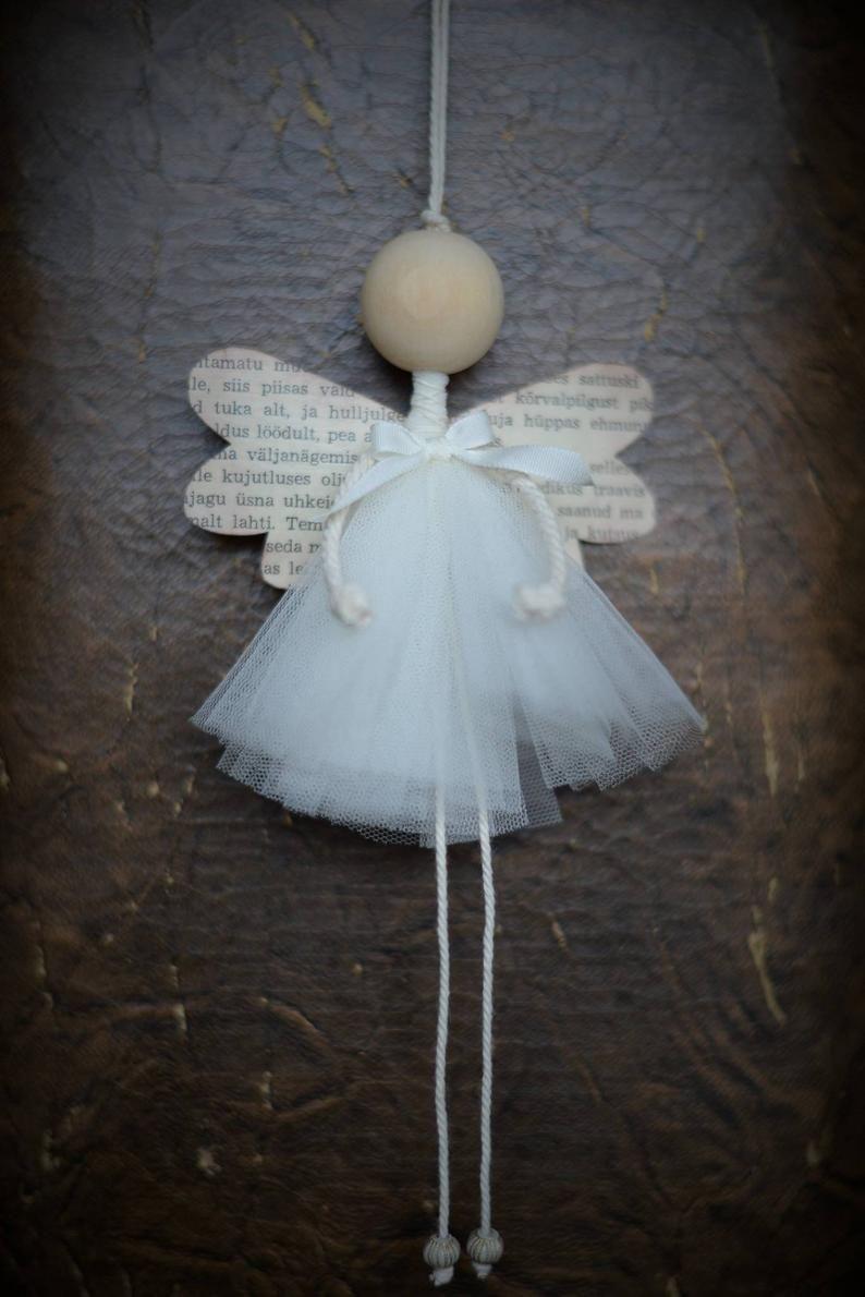 Photo of Ornamento fatto a mano in legno di Angel Romantic Christmas Decoration
