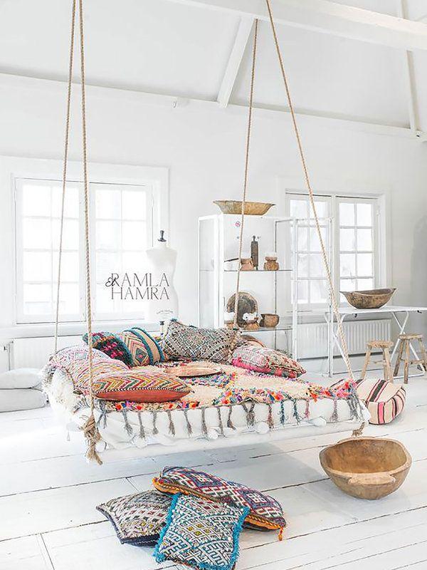 Hamacas y columpios dentro de casa cozy relax camas colgantes decoraciones de casa y - Columpios para casa ...