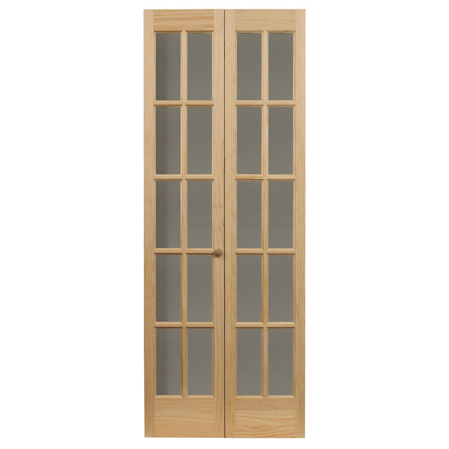 Ltl Traditional Divided Gl Unfinished Wood Tone Bifold Door 527 24 X 80 1 2 Brown Size 24x80 5