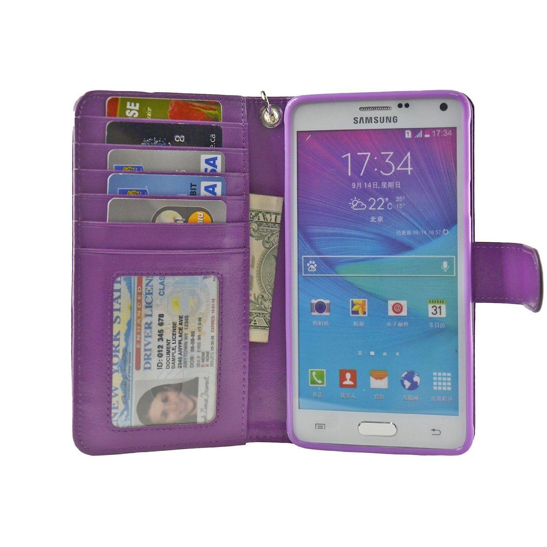9d06852765e Navor Protective Flip Wallet Case for Samsung Galaxy Note 4