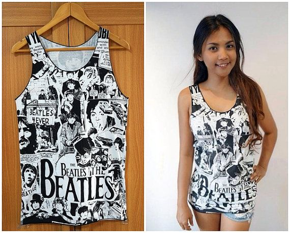 The Beatles Tank top Sleeveless Tee Shirts Classic Rock T shirt ...