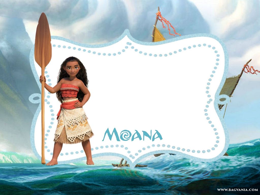 Download Free Printable Moana Invitation Template In 2019