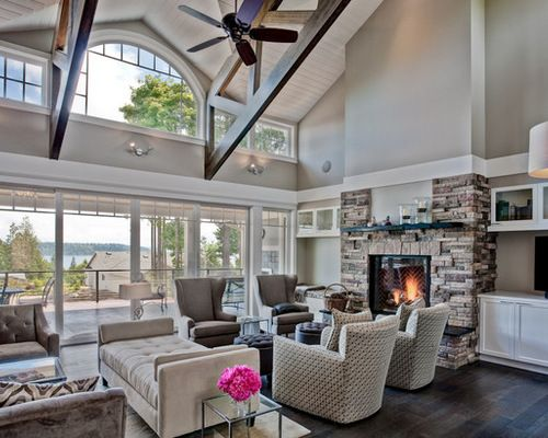 Sherwin Williams Amazing Gray Home Design Ideas Pictures Remodel And Decor Sherwin Williams Amazing Gray Grey Family Rooms Traditional Family Rooms