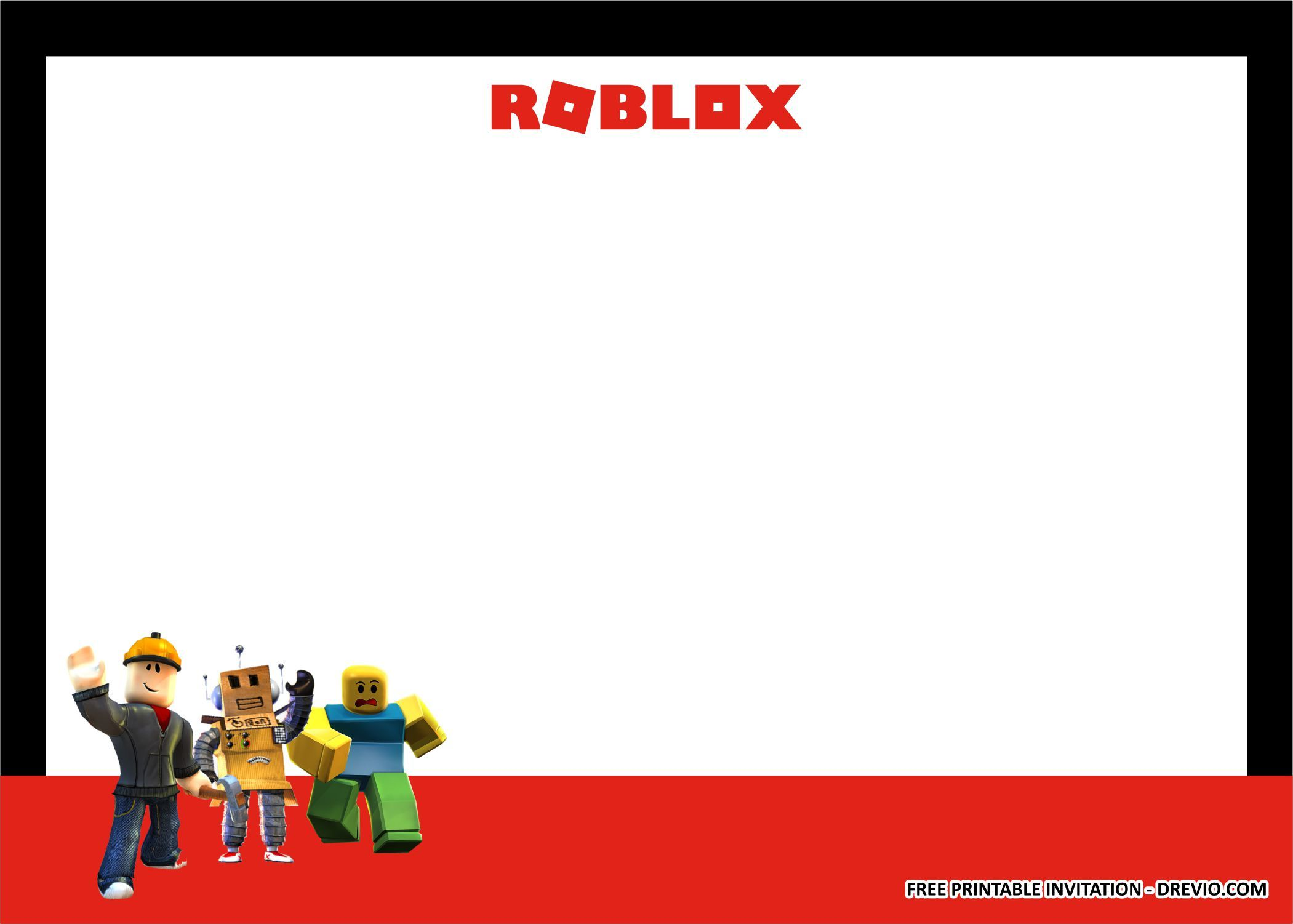 FREE PRINTABLE) ROBLOX Birthday Party Kits Templates Free