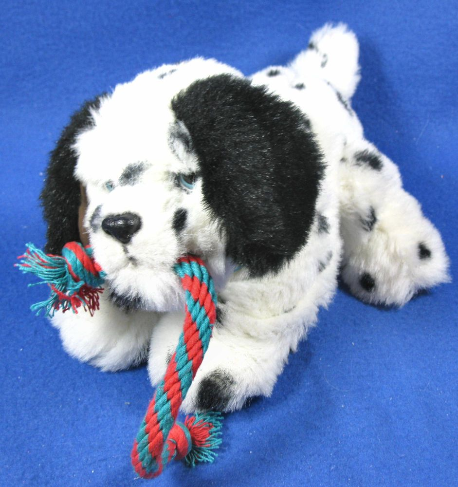 Furreal Friends Puppy With Rope Black And White Dalmatian Spotted