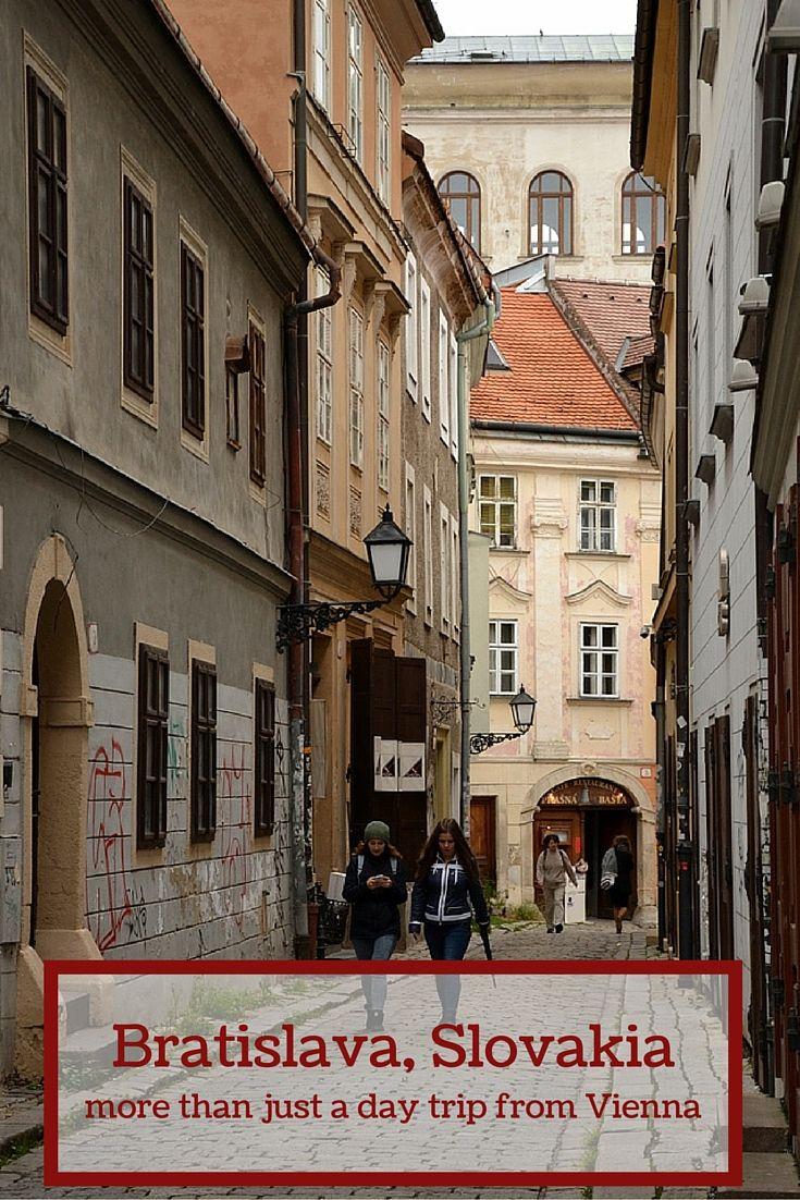 Most people visit Bratislava as a day trip from Vienna - big mistake as the  city is worth a proper stay there! Click on the picture or visit ... 103c7692cbe