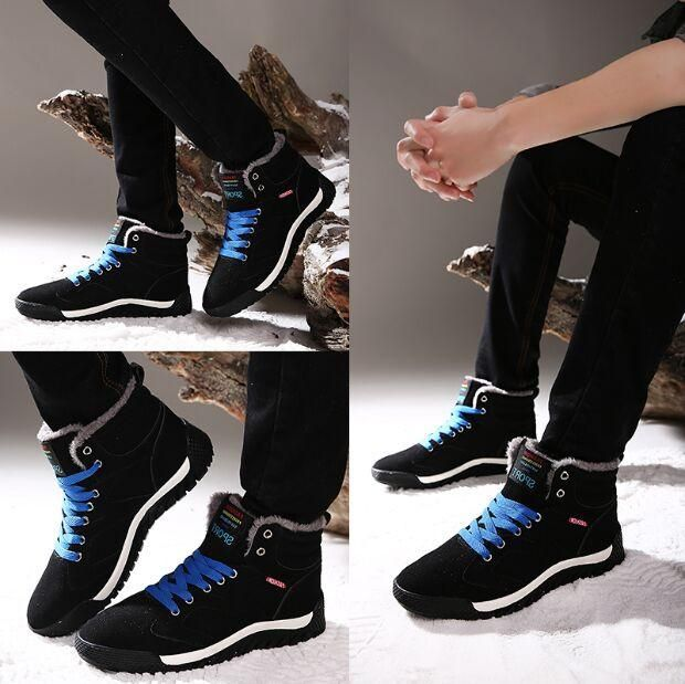 Cheap but good quality man snow boots have fur inside skidproof ...