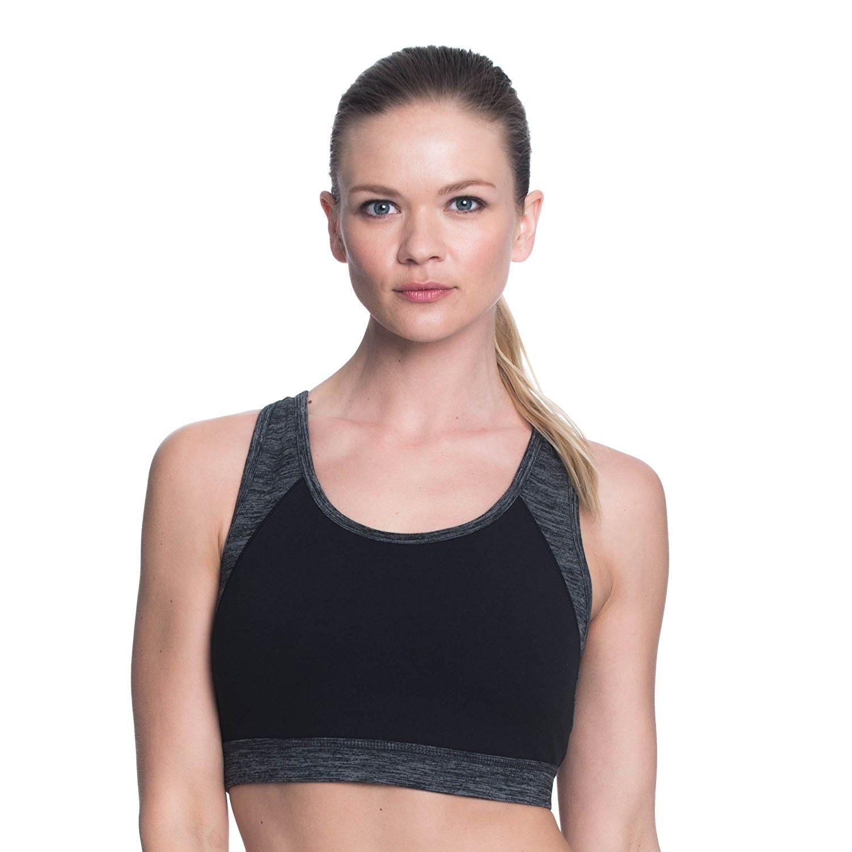 Women's Willa Wireless Sports Bra Medium Impact Black