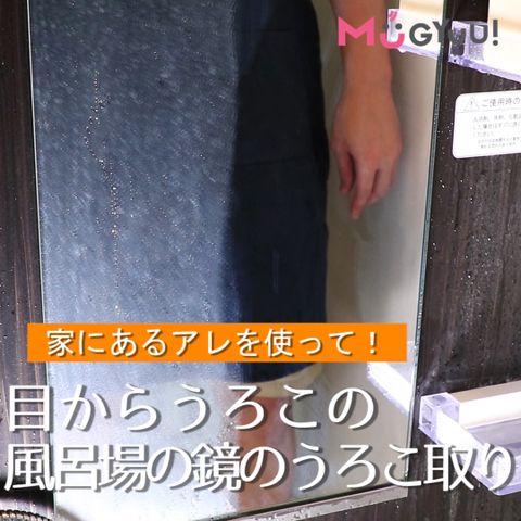 家にあるアレを使って 目からうろこの 風呂場の鏡のうろこ取り 鏡