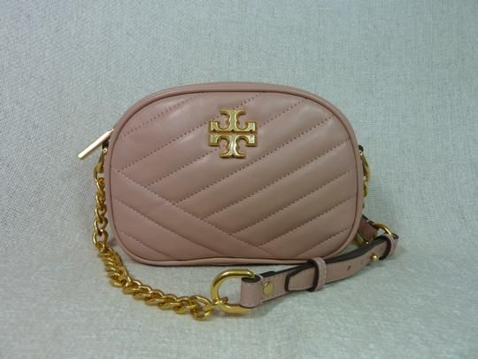 28754ab6343 Tory Burch Kira Chevron Small Camera Pink Moon Leather Cross Body Bag. Get  the trendiest Cross Body Bag of the season! The Tory Burch Kira Chevron  Small ...