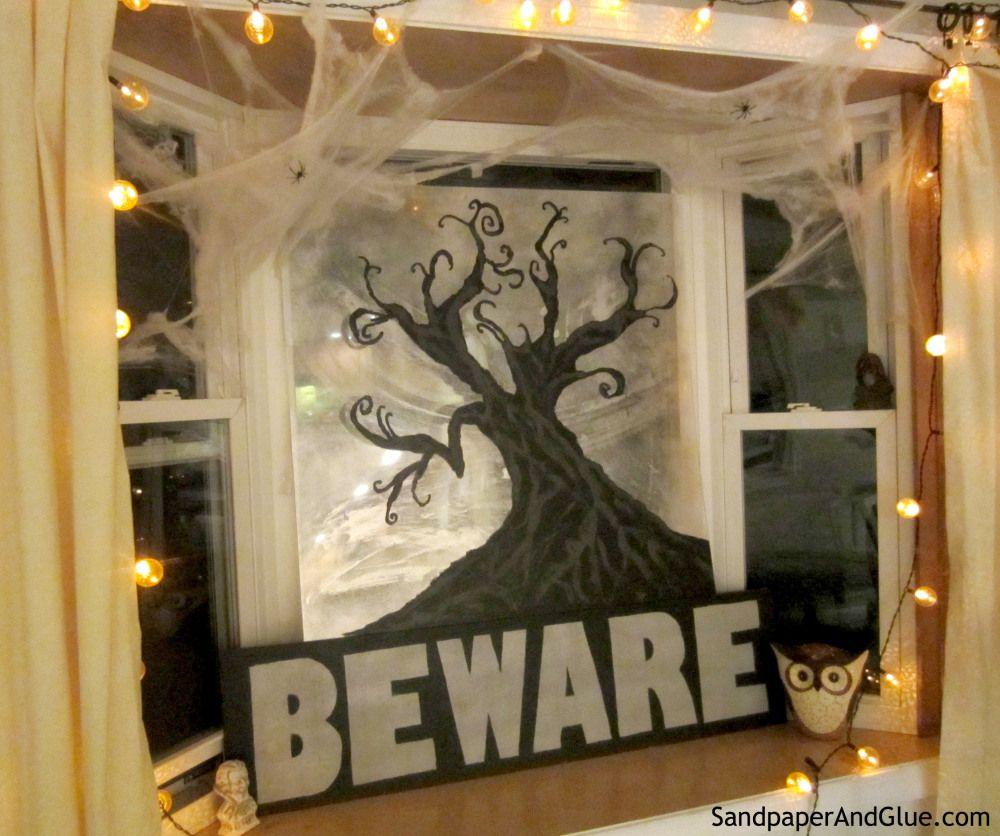 Fall Diy Project 200 Giveaway Halloween Window Display Halloween Displays Diy Halloween Window