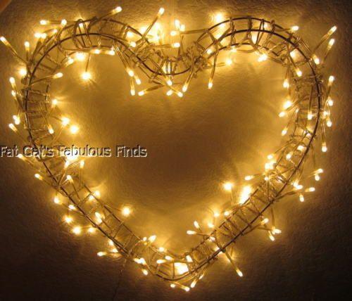 Ikea Glansa Hanging Heart Shape Fairy Light Fixture Christmas Sigga Heimis New
