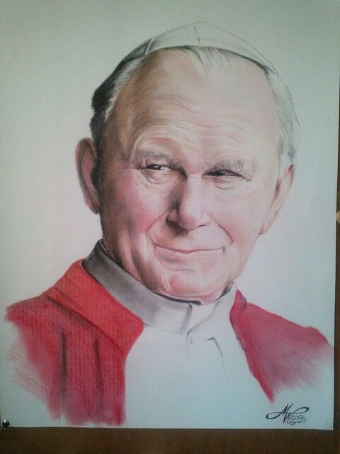Colored Pencil Drawing Juan Pablo Ii Colored Pencil Drawing Pencil Portrait Portrait