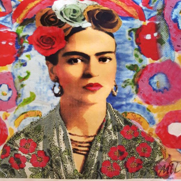 Belle Frida Kahlo tissu coussin sac à main * Coupon imprimé 45 x 45 cm