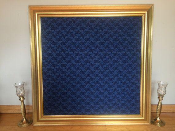 Elegant Gold Framed Corkboard Cork Board By Peonyandpetunia