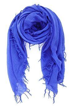 Baja Blue Cashmere and Silk Scarf