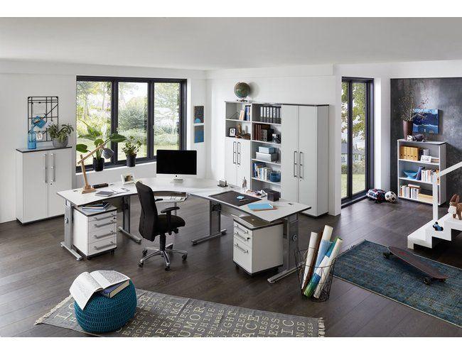 Büromöbel Set Object Grau Dekor Schreibtisch Kombi ...