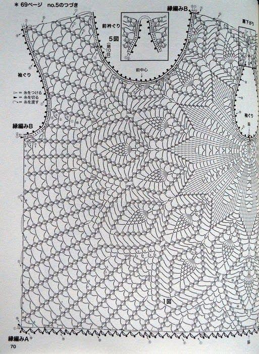Blusa de Crochet | tejidos | Crochet, Crochet blouse y Crochet patterns