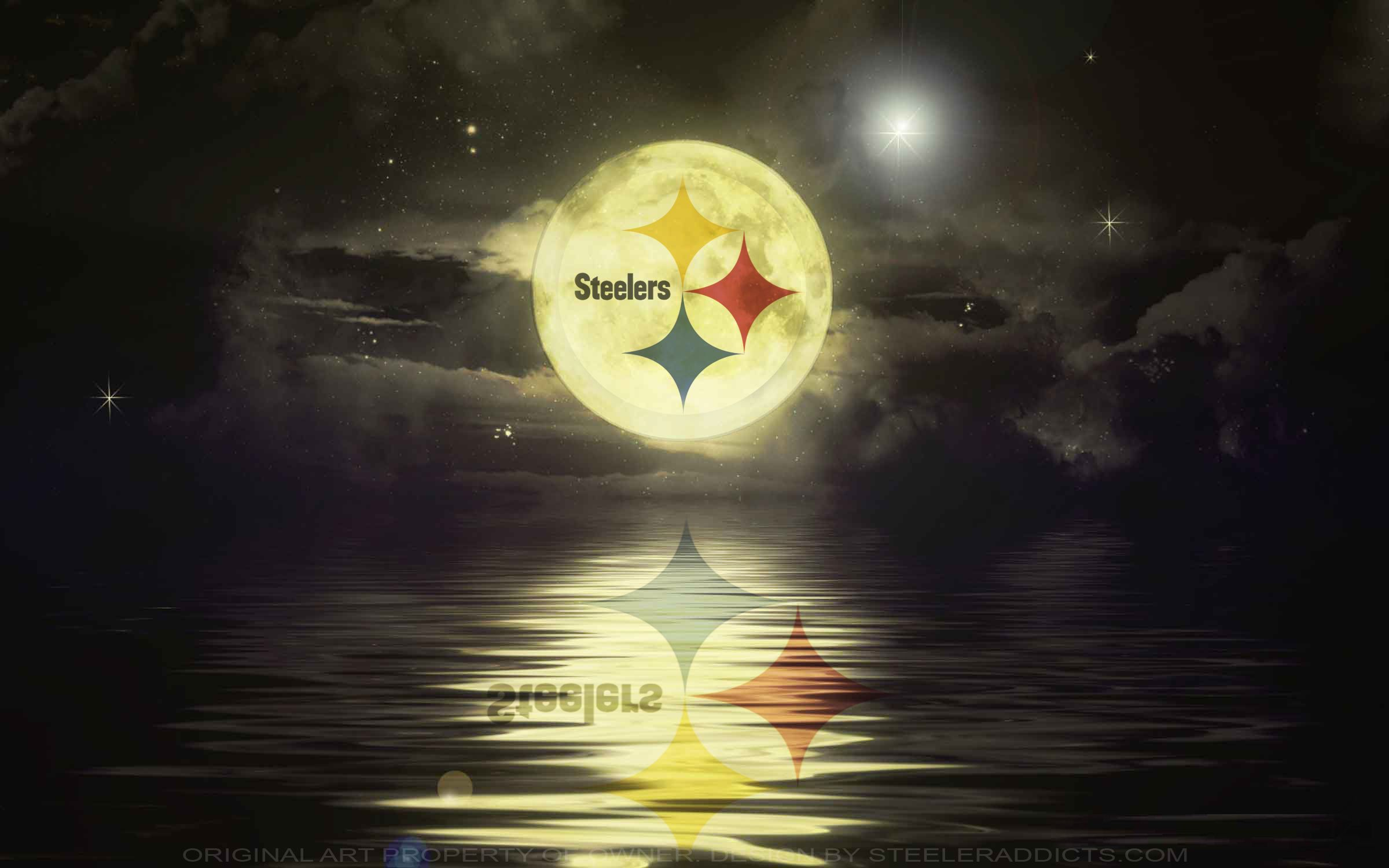 BEST FULLMOON EVER … Pittsburgh steelers logo
