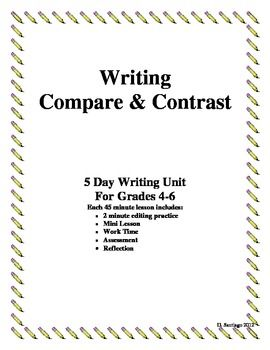 compare and contrast essay writing grades   classroom