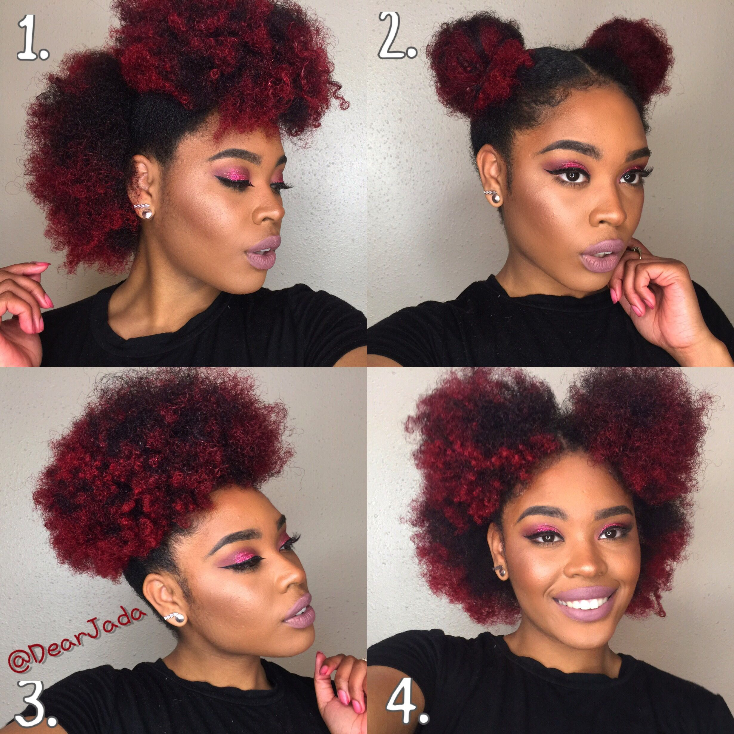 Naturalhairstyleseasy colored natural hair pinterest natural