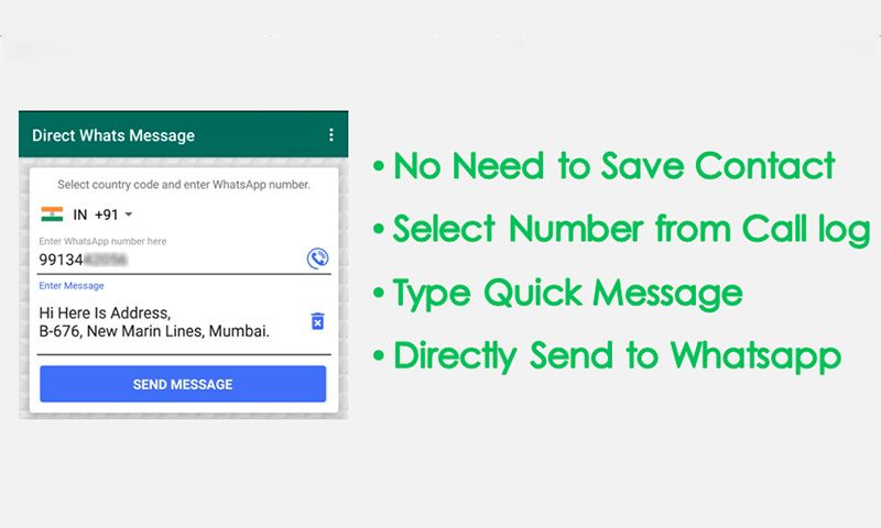 Direct chat in WhatsApp without number save! Whatsapp