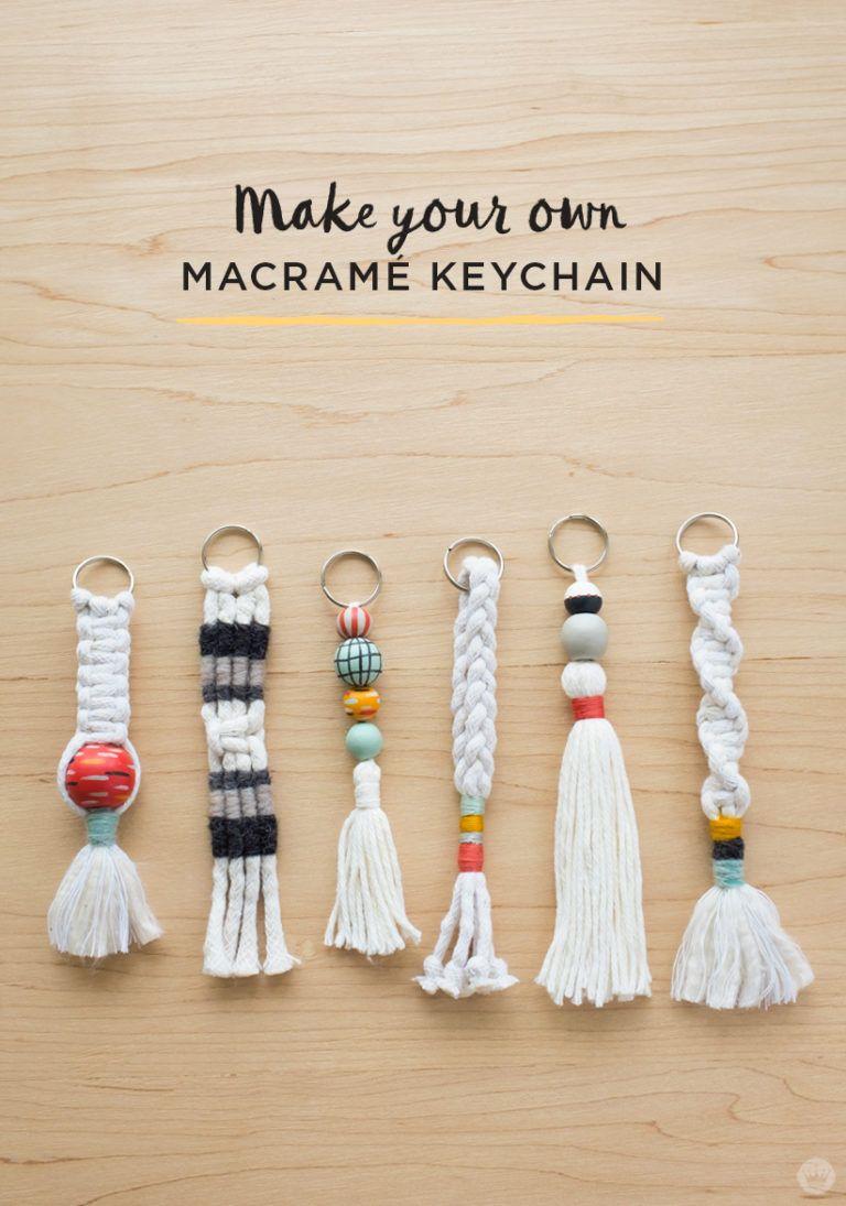 how-to: diy tassel and macramÉ keychains | avec les enfants