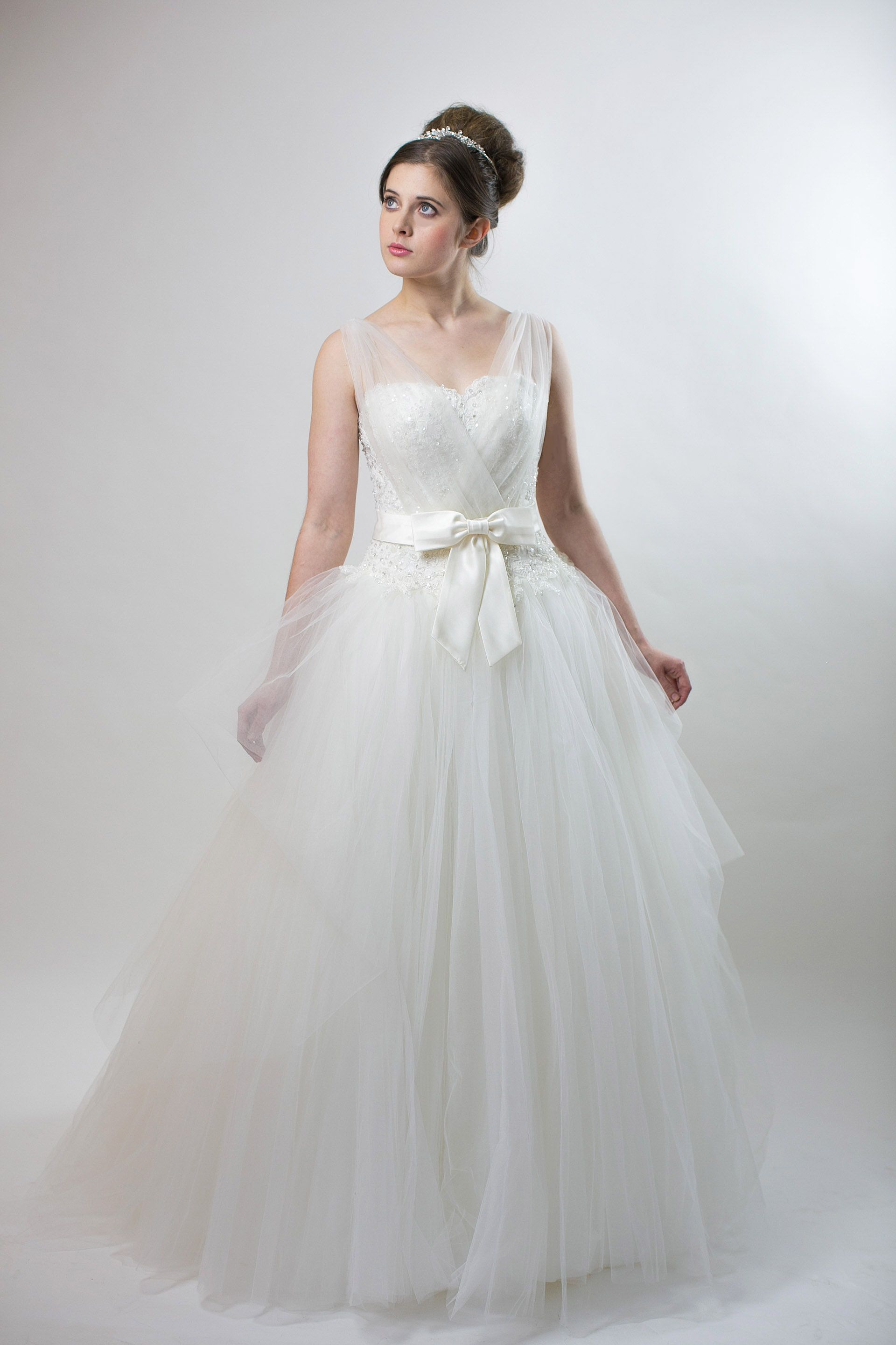 Dreamy and romantic hand made wedding gown with beaded