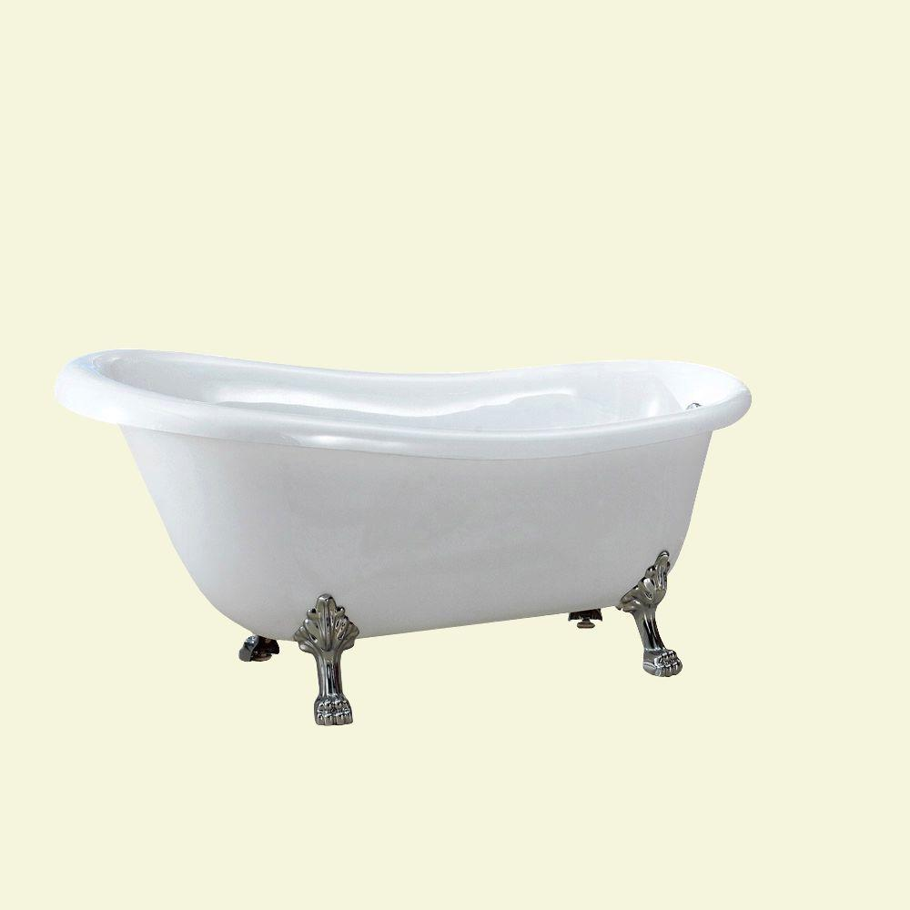 null Dreamwerks 5.5 ft. Acrylic Clawfoot Non-Whirlpool Bathtub in ...