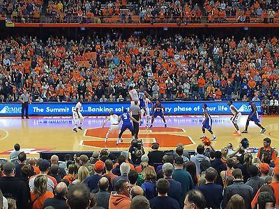 Duke At Syracuse Basketball Tickets 1st Level Center Court Section