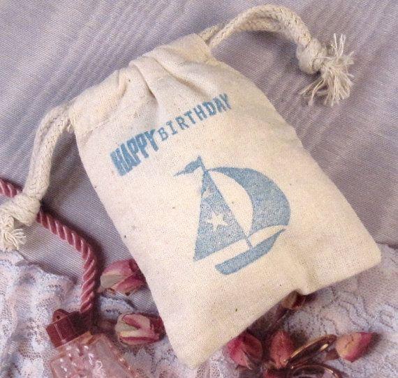 Pretty sail boat cloth bags