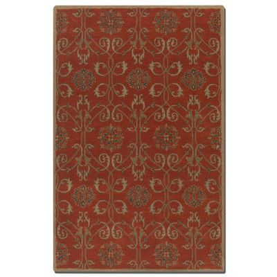 Uttermost Favara Red Area Rug Rug Size: