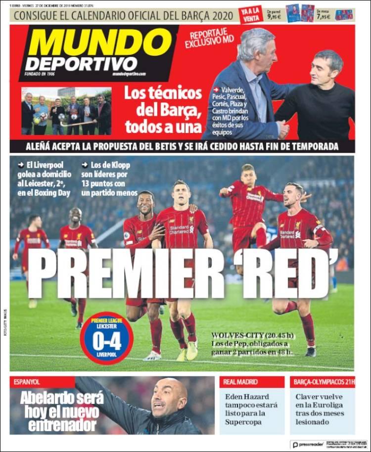 20191227 Periódico El Mundo Deportivo (España