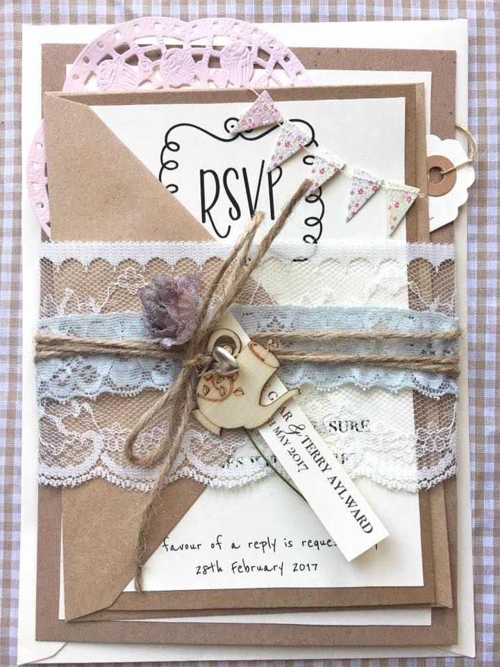 Handmade Vintage Wedding Invitations. That\'s so Gemma - Contact ...