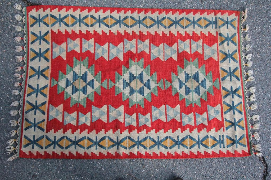 Turkish kilim rug from Diamonds & Rust.