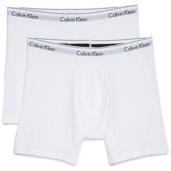 Calvin Klein Underwear CK 2 Pack Modern Cotton Stretch Boxer Briefs ( 30) ❤  liked on Polyvore featuring men s fashion 379469252