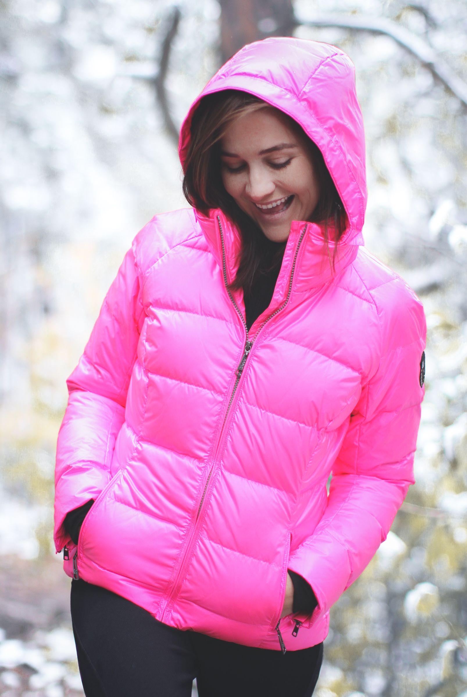 Eve Parka In Neon Pink Puffer Jacket Women Ski Jacket Women Womens Ski Coat
