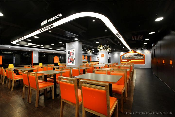 yoshinoya japanese fast food restaurant by as design hong kong - Fast Food Store Design