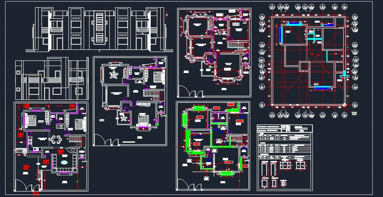 Residence Architectural Dwg Details 40 X50 House Layout Plans House Layouts Modern House Plans